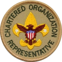 Chartered Organization Rep  Patch